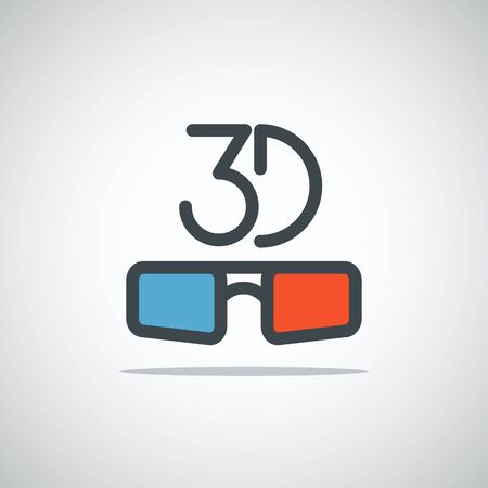 icon 3d: Modern media web icon. 3D movie concept