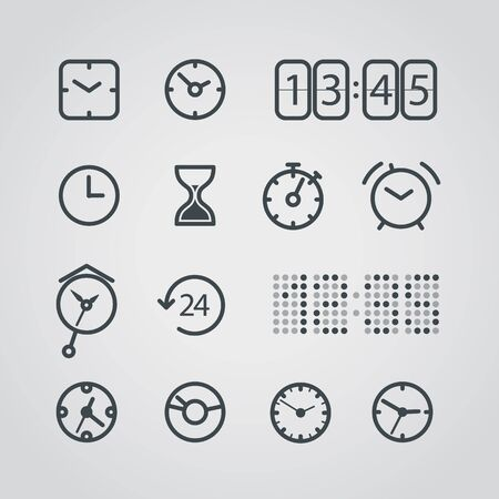 set of numbers: Different slyle of clock vector collection