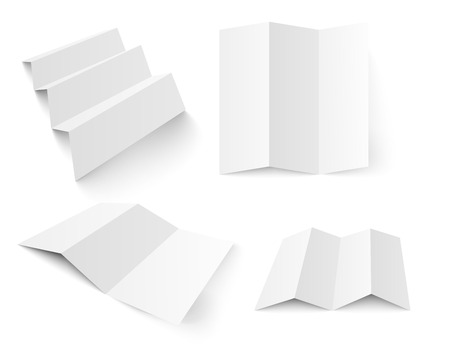 cardbox: Blank white booklet vector template Illustration