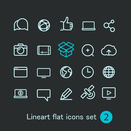 art blog: Different modern media web application icons collection. Vector clip-art