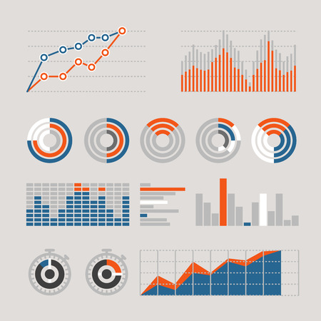 ratings: Different graphic business ratings and charts. infographic elements