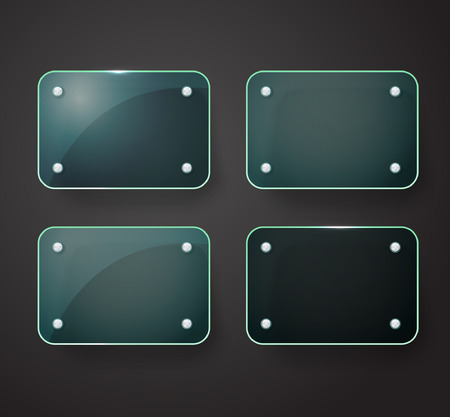 advertising board: Different glass advertising board. Template for a text