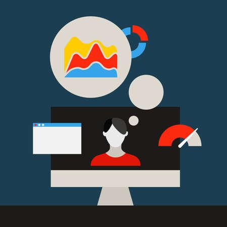 tecnologia comunicacion: Concepto de tecnolog�a de la comunicaci�n. Medios planos iconos de aplicaciones