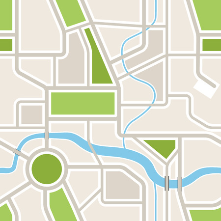 Seamless background of abstract city map Stock Vector - 43139348