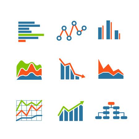 Verschillende grafische bedrijf ratings en grafieken. infographic elementen