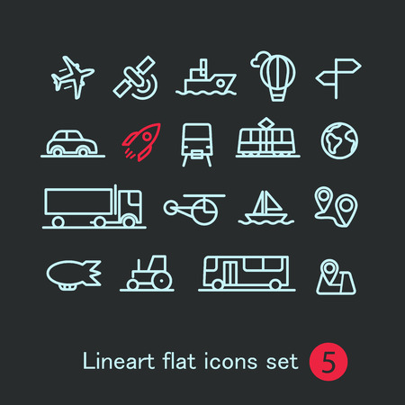 train icon: Different modern media web application icons collection. Vector clip-art