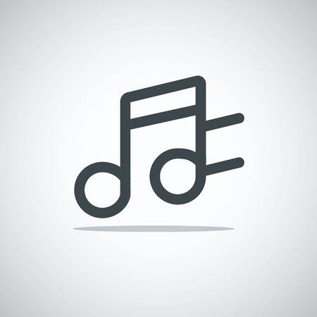 multimedia icon: Modern media web icon. Notes