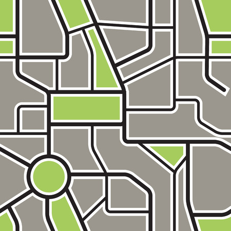 city background: Seamless background of abstract city map