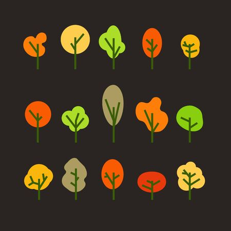 tree silhouettes: Different tree silhouettes clip-art. Design elements