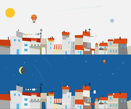 abstract city: Abstract city map illustration set. Ftat design