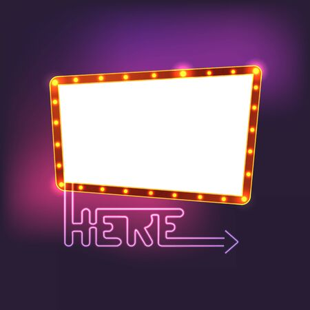 Glowing vintage board. Template for a text