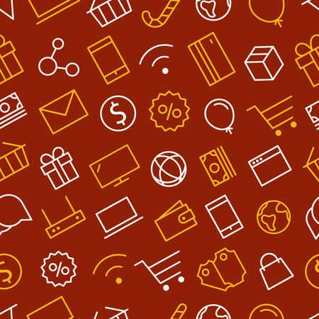 web shopping: Web shopping sale background. Seamless pattern