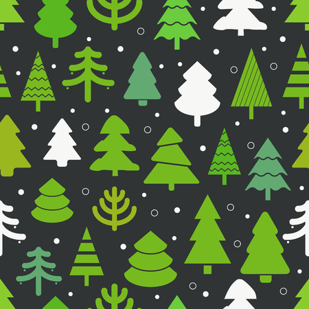 abstract design elements: Abstract christmas trees seamless background. Design elements Illustration