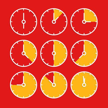 Vector chronometer clip-art. Flat design elements Ilustração