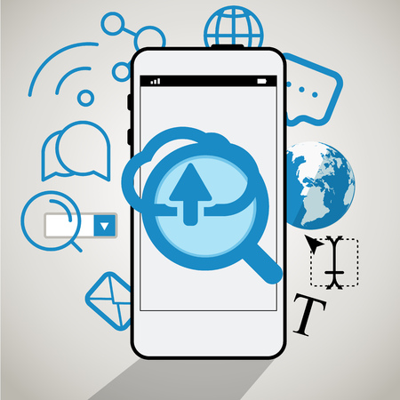 icons site search: Modern smartphone interface. Comminication concept