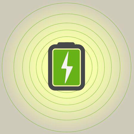 accu: Accumulator icon with lighting symbol