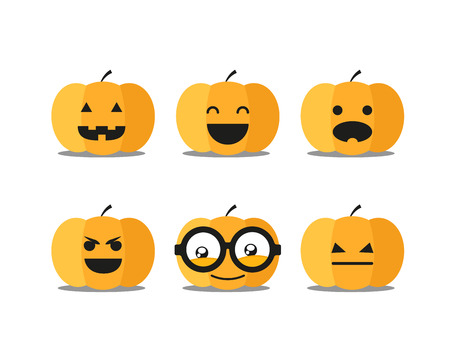 helloween: Different helloween pumpkin faces clip-art