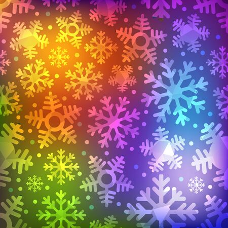 schneeflocke: Different blue snowflakes set. Abstract seamless background