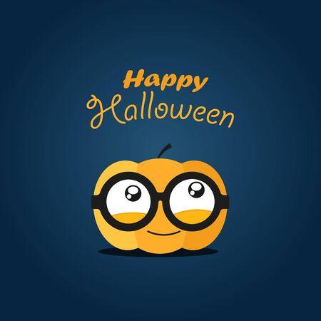 halloween scary: Halloween greeting card. Happy Halloween Illustration