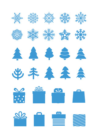 the season: Christmas season vector elements collection Illustration