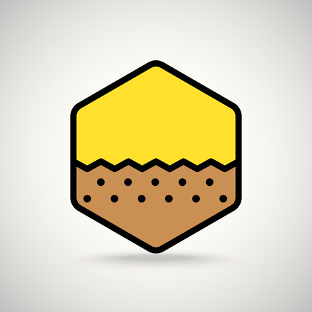 ground: Brown ground. Appication or web interface icon Illustration