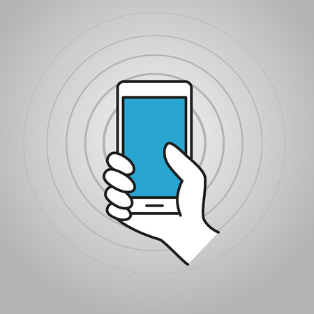 smartphone hand: Hand holding modern smartphone