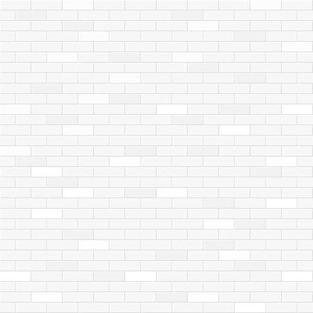 흰색 벽돌 벽 원활한 패턴 일러스트