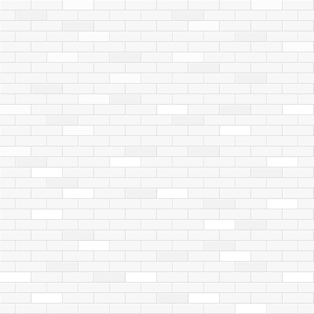 White brick wall seamless pattern