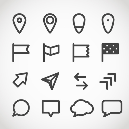 internet mark: Modern gadget web icons collection