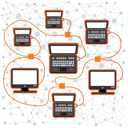 blogs: Abstract scheme of modern computer network