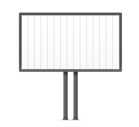 photoreal: Blank urban advertising board template. Past your content on it Illustration