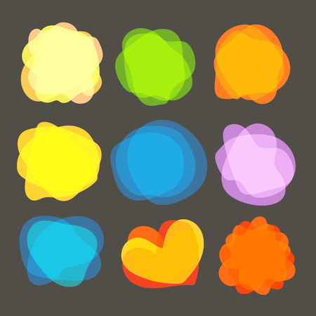 blobs: Different color blobs clip-art. Vector elements collection