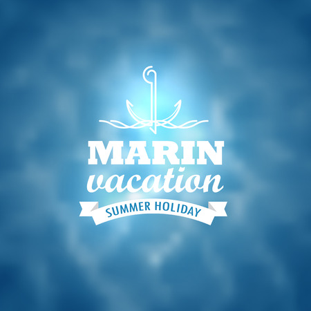 marin: Marin wacation. Summer holiday insignia. Design template