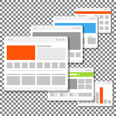 windows media video: web site page templates collection Illustration