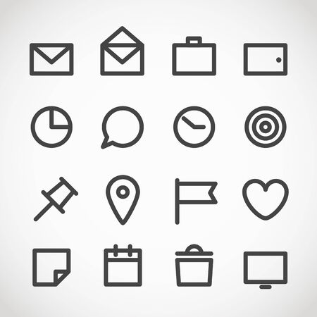 gadget moderne web icons collection