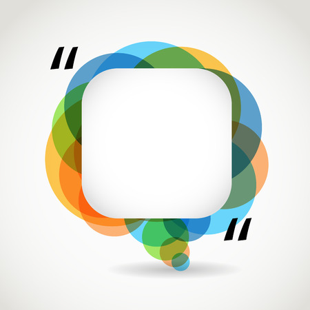 citing: Abstract color speech cloud. Quote layout Illustration