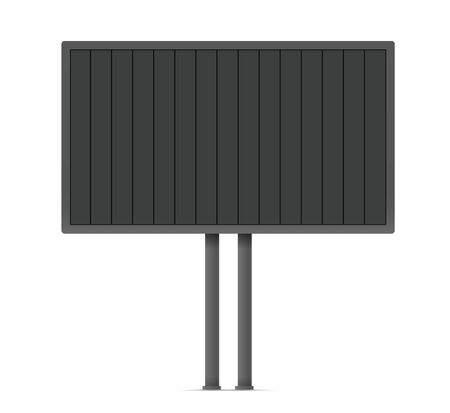 Blank urban advertising board template. Past your content on it Illustration