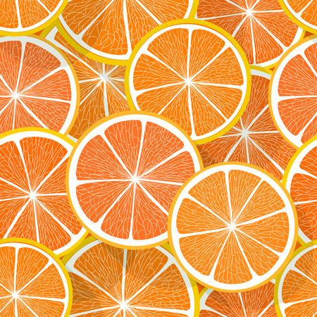 orenge: Citrus seamless vector pattern. Orange