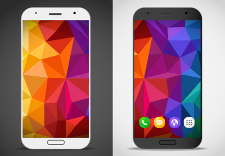 Modern smartphones with abstract mockup. Vector layout