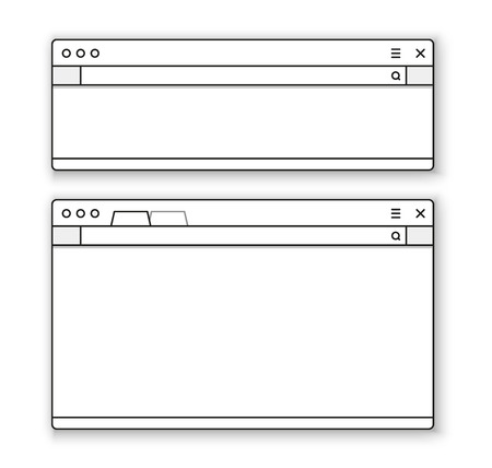 public address: Opened browser window template. Past your content into it