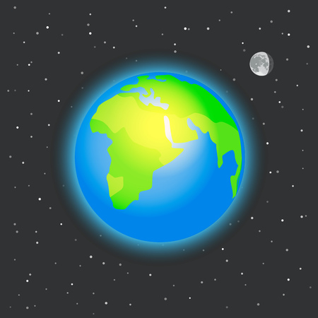 sattelite: The Earth in space vector illustration