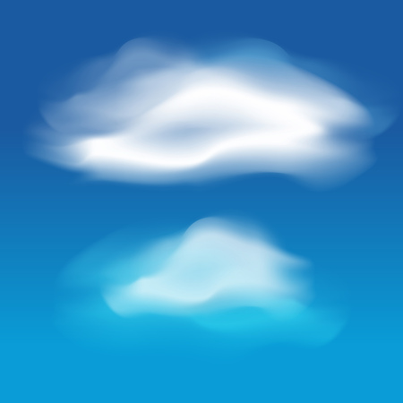 white clouds: Different white clouds set