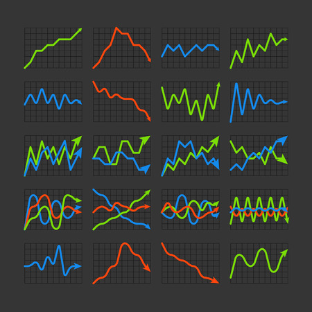 ratings: Graphic business ratings and charts collection. Infographic elements
