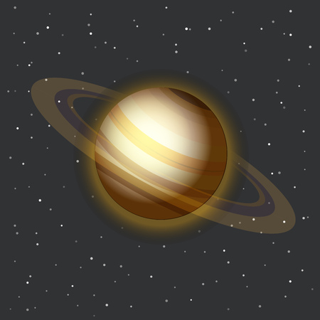 and saturn: The Saturn in space vector illustration