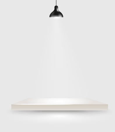 light spot: Bright stage with the lamp