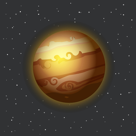 planetarium: The Jupiter in space vector illustration Illustration