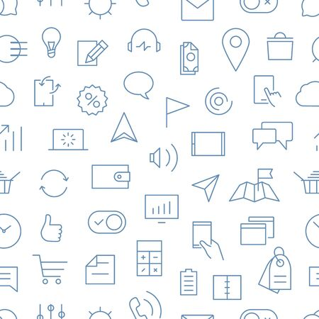 Modern gadgets pictograms seamless background