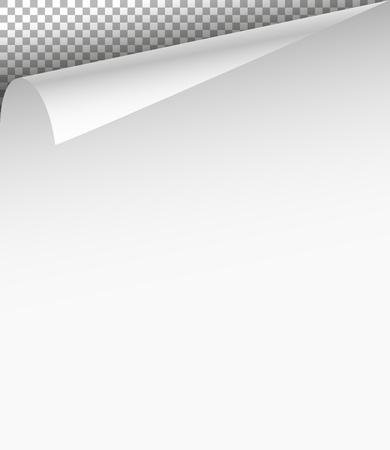 blatt: Blank Blatt Papier mit Ecke auf transparentem Hintergrund Biege