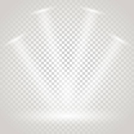 gallery: Bright stage with spotlights. Transparent background