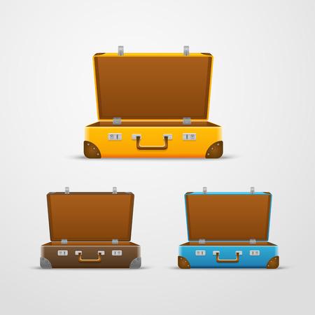 valigia: Diverse borse da viaggio vettore di raccolta
